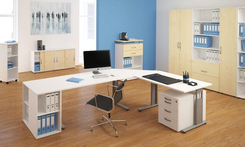 schreibtisch b ro c fu flex b rom bel schreibtische. Black Bedroom Furniture Sets. Home Design Ideas